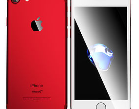 product 3D model Apple iPhone 7 PRODUCT RED