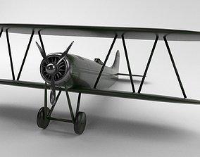 3D asset Historic Plane - Game Ready-PBR