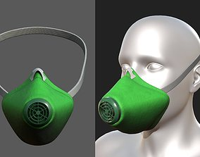 VR / AR ready Gas mask helmet 3d safety isolated fantasy
