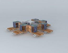 3D model the Village Cubes