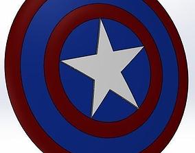 Marvel - captain america shield logo 3D print model