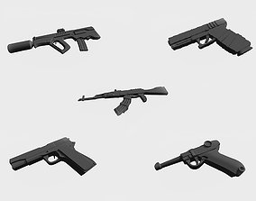 3D print model Five guns