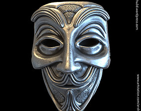 Face mask vol1 pendant jewelry 3D print model