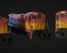 3D asset realtime PBR Locomotive