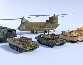 6 military vehicles 3D