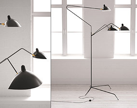 Three Arm Floor Lamp 3D model