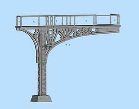 Cantilever signal bridge double track printable scale 1