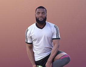 Gabriel 10373 - Stretching Soccer Man 3D asset realtime