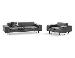 3D Arflex Moods sofa and armchair