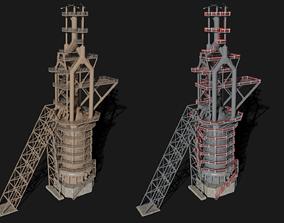 Blast Furnace 3D asset