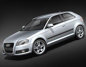 Audi A3 2009 3door 3D Model