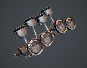 V8 Pistons 3D model