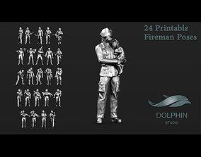 Fireman figures Set 01 3D print model