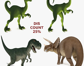 3D Rigged Dinosaurs Collection