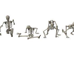 3D model Skeleton Random Poses