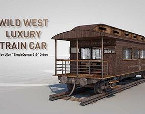 3D model Wild West Luxury Train Car