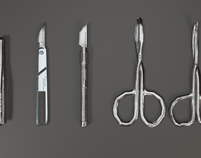 3D model realtime Surgical Tools Set 1