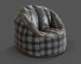 Realistic Bean Bag 3D model