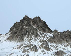 3D asset game-ready Snow Mountain ground