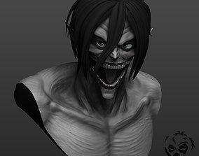 Eren from Attack on Titan in titan form 3D print model