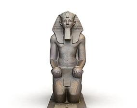3D Egyptian Queen hatshepsut kneeling statue