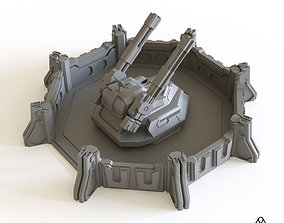3D printable model Sci fi Anti Air Emplacement for 2