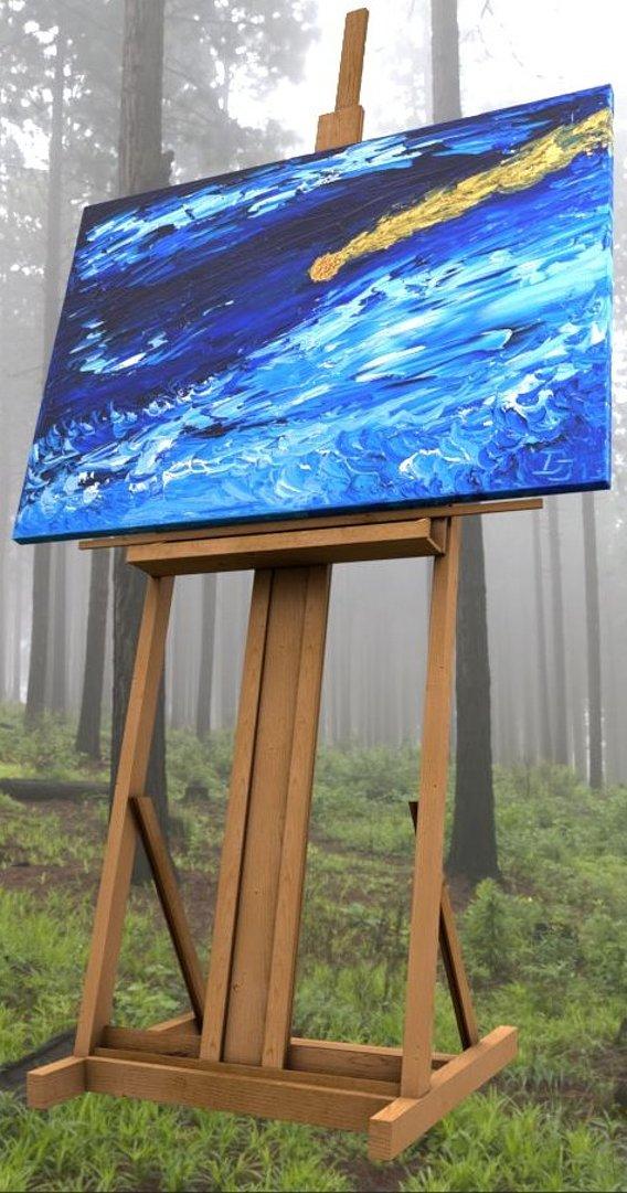 Oil Painting - Goldener Komet