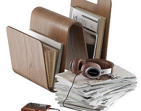 3D floor accessories with magazine holder