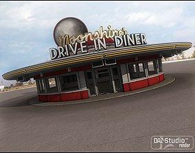 3D Moonshines Diner
