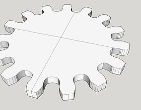Gear wheel 15 teeth 15cm diameter modul 1cm 3D