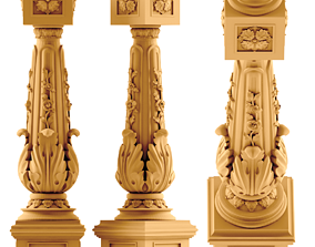 3D STL model for CNC Stair Railing monument