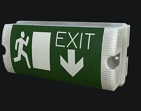 Exit Sign PBR Game Ready 3D asset