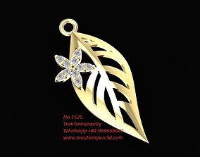 3D printable model 1525 Diamond Leaf Pendant with a small