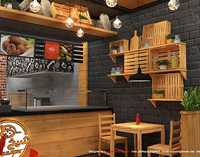 design Fast Food restaurant 3D model