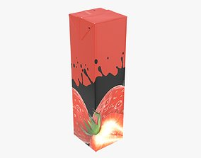 Juice 1000ml cardboard box packaging slim 3D model