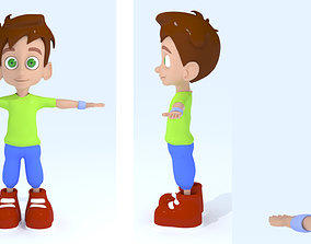 3D Cartoon Boy character statue