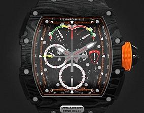 Richard Mille RM 50-03 Watch With Orange Strap 3D