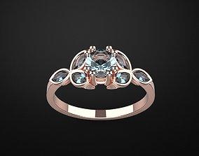 wedding engagement women ring 3dm render detail 3D print