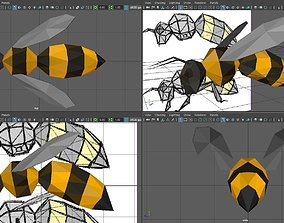 3D asset Low-poly Bee