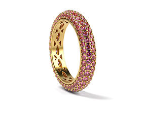 3D printable model Pink Sapphires Round ring