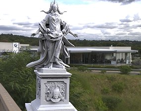Alien goddess statue 3D model