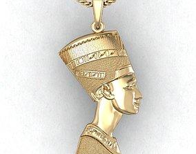 3D print model pendant Nefertiti