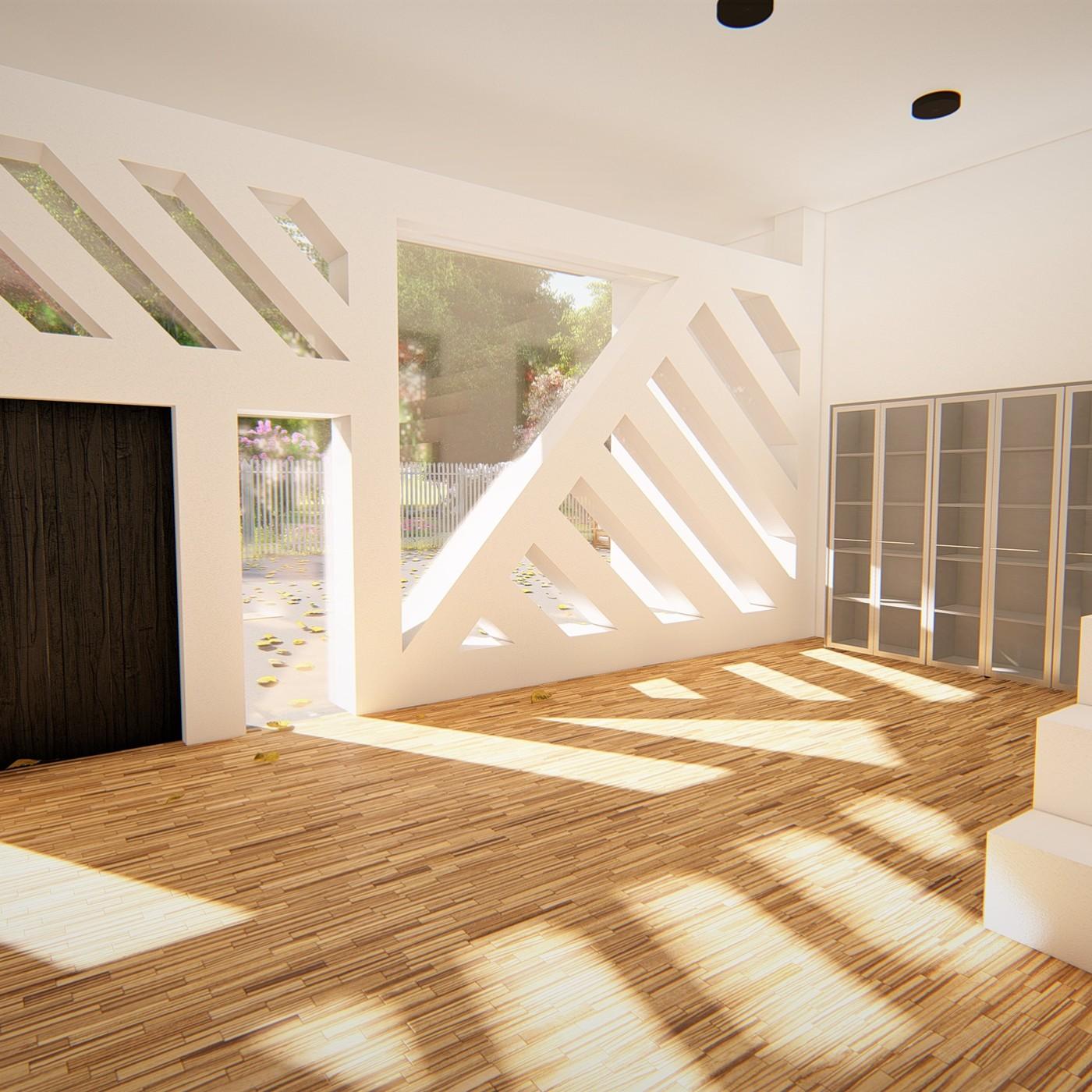 Realistic Modern House Model