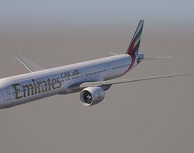 Boeing 777-300ER Emirates 3D model