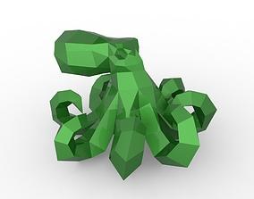 Octopus 3D model realtime octopus