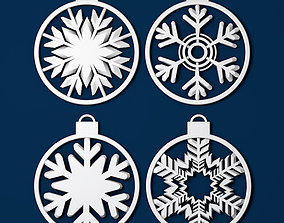 Christmas decoration snowflake 3d print frozen
