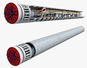 Tunnel Boring Machine TBM 3D model