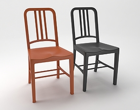 3D navy chairs coloured