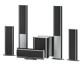 Black & Silver Speaker 3D