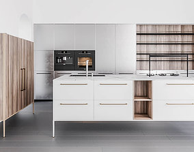 3D Cesar Unit collection kitchen with island and